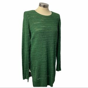 Eileen Fisher Hunter Holiday Green Top M